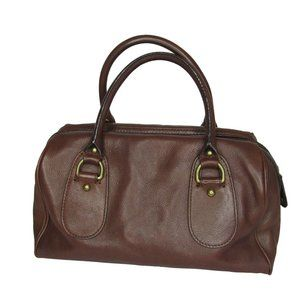 Banana Republic Satchel Purse Brown Leather